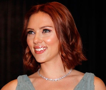 scarlett johansson red hair. Red hair is very rare because